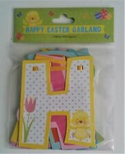 Happy Easter Bunting Banner Garland 2 Meter Letters 12x14 cm approx-Easter Decor