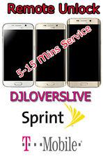 Remote Unlock Service for Samsung Galaxy S6 Edge plus S7 S7 EDGE  from Sprint