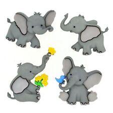 JESSE JAMES BUTTONS ~ DRESS IT UP - TINY TRUNKS 8976 Baby Elephants Crafts Sew