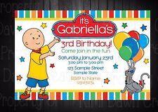 Calliou Custom Birthday DIGITIAL DELIVERY Invitation