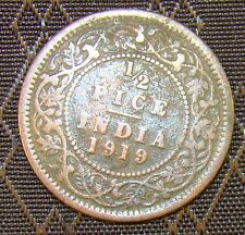 India 1/2 Half Pice 1919 Coin George V King
