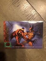 Wolverine vs Sabretooth #137 Fleer Ultra X-Men Base Trading Card