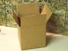 "Pack of 6 Heavyweight Corrugated COFFEE MUG SIZE BOXES - 4"" X 4"" X 4"" Square"