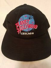 Vintage Planet Hollywood Snapback Hat Adult Size One Fits All 90s Chigago Black