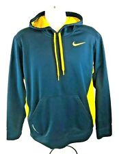 653e3538a Nike Therma-Fit Men's Black Yellow Long Sleeve Fleece Lined Pullover Hoodie  Sz M