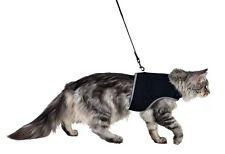 Pettorina e Guinzaglio per Gatto NERA Imbragatura Sicura Collare TRIXIE gatti