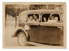 U042 Photographie vintage Originale Voiture Panhard Mariage Photo Albert Croland