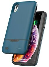 iPhone XR Battery Case Smart Slim Protective Charging Case (Rebel Power)  - Blue