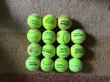 15 used tennis balls - all branded balls with decent bounce and nap - FREEPOST