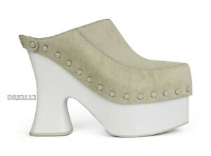 UGG x Eckhaus Latta El Boogie Platform Clog Heel Bone White Womens Size 9