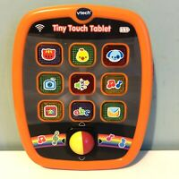 Vtech Tiny Touch Tablet Orange 6-36 Months Lights Sounds Letters Numbers Animals