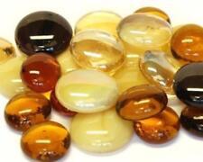 verre mosaïque tuile Pépites - Caramel Mélange arrondi pierres précieuses