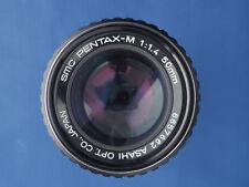 Pentax SMC M 50mm f/1.4 Lens C/W Caps In Pentax K Bayonet Mount
