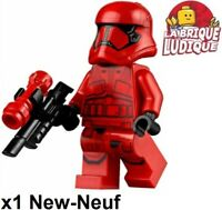 Lego Figurine Minifig Star Wars Sith Trooper rouge/red + arme sw1065 75256 NEUF