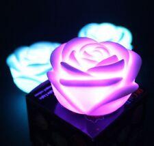 Roseform LED Licht Nachtlicht Nachtlampe Zimmer Deko 7 Farben