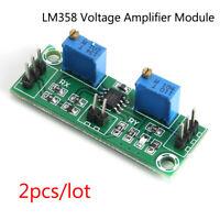 2x LM358 Weak Signal Amplifier Voltage Operational Amplifier Module Single Power