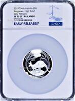 500 Mintage 2019 P Australia HIGH RELIEF 5oz Silver Kangaroo $8 Coin NGC PF70 ER