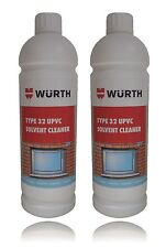 Genuine Wurth PVC Solvent Cleaner 1 Litre Bottle Type 32 UPVC Window Frame x 2
