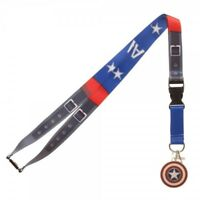 Captain America Texture Suit Up Marvel Comics ID Badge Holder Keychain Lanyard
