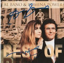 "Al Bano & Romina Power autógrafos signed CD folleto ""Best of"""