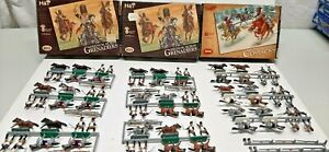 36 Painted HaT Napoleonic French Grenadiers & Russian Cossacks  1/72 Scale 25mm