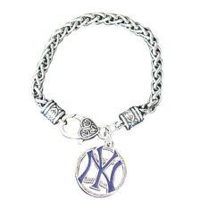 New York Yankee Charm Bracelet, New York Yankee Jewelry, Baseball Bracelet & Jew