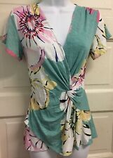 Anthropologie Deletta Azores Flutter Floral Flower Blouse Top Shirt XS