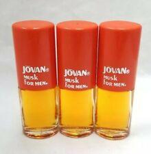 Jovan Musk Aftershave/Cologne 3/8oz Miniatures FOR MEN (3 PACK)
