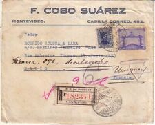 URUGUAY - 1928 OLYMPIC GAMES - SOCCER VICTORY 8 CTS. ON COVER FRONT TO FRANCE
