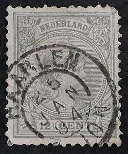 1904 Netherlands 12 1/2c bluish grey Wilhelmina stamp canc Haarlem