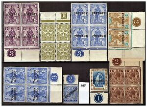 MALTA NICE LOT WITH PLATE NUMBER MH/MNH