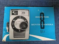 Brownie Movie 8 f/2.7 Camera Manual  Kodak Eastman 8mm VINTAGE