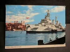 British Cruiser HMS BELFAST, London, England Naval Cover unused post card