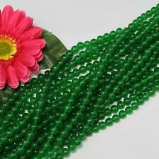 3 Strang grün Jade 8mm Kugeln Lose Perlen