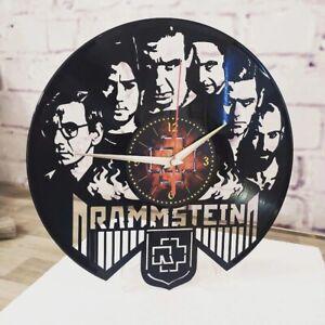 RAMMSTEIN handmade wall clock, VINYL, wall decor, gift for fan lindemann