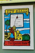 New listing New Mexico The Spanish State V12 Vintage Surfing Water Transfer Window Decal