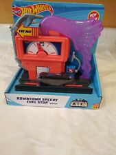 Hot Wheels Playset Downtown Super Fuel Stop New Free Shipping