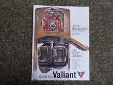 1965 CHRYSLER VALIANT AP6 V8 SALES BROCHURE 100% GUARANTEE