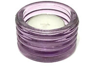 Glass Tealight Holder - Purple