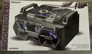 *New* SYLVANIA Boombox DJ Bluetooth Speaker with Drum Kit