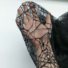 Tulle Spider Web Net Fabric Mesh Lace Dressmaking Craft Halloween Witch By Yard