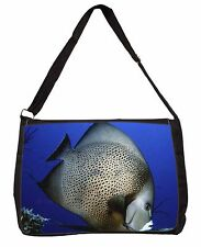 Funky Fish Large Black Laptop Shoulder Bag School/College, AF-23SB