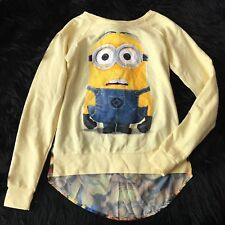 Despicable Me Minions Women's Juniors Size XS Extra Small Top Sheer Back Yellow