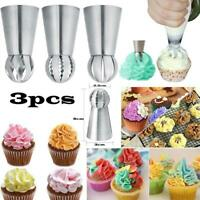 3Pcs/Set lcing Nozzle Russian Spherical Piping Pastry Tips Cake Decorating Hot