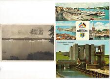 3 AK: Flottenverband Kiel 1931, Schiffshebewerk Lüneburg, Hafen Flensburg 1965