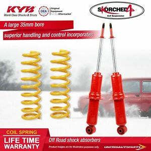 Front KYB SKORCHED 4'S Shock Absorbers King Springs for TOYOTA Hilux Surf KZN185