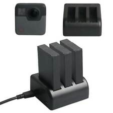 5V/2.1A 3 Battery Charging Charger Micro USB Port for GoPro Fusion Action Camera