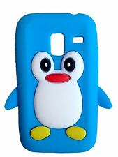 Light Blue Silicone Penguin Phone Case / Cover for Samsung Galaxy Ace Plus S7500