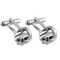 1Pair Men's Suit Shirt Knot Twisted Cufflinks Wedding Business Cuff link Gift md