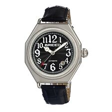 Breed Arthur 1202 Men's Automatic Classic Dress Watch Leather Strap Black NEW